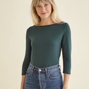 NWT Amour Vert 3/4 sleeve tee soft XS ecofriendly